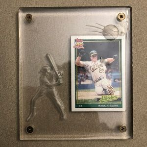 1991 Mark McGwire Topps Baseball Card
